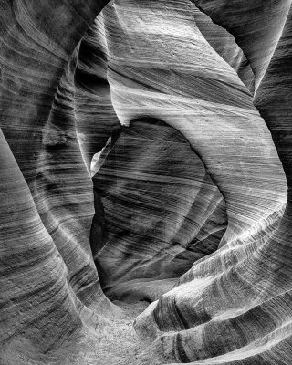 antelope canyon arizona black and white