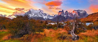patagonia chile sunset torres del paine