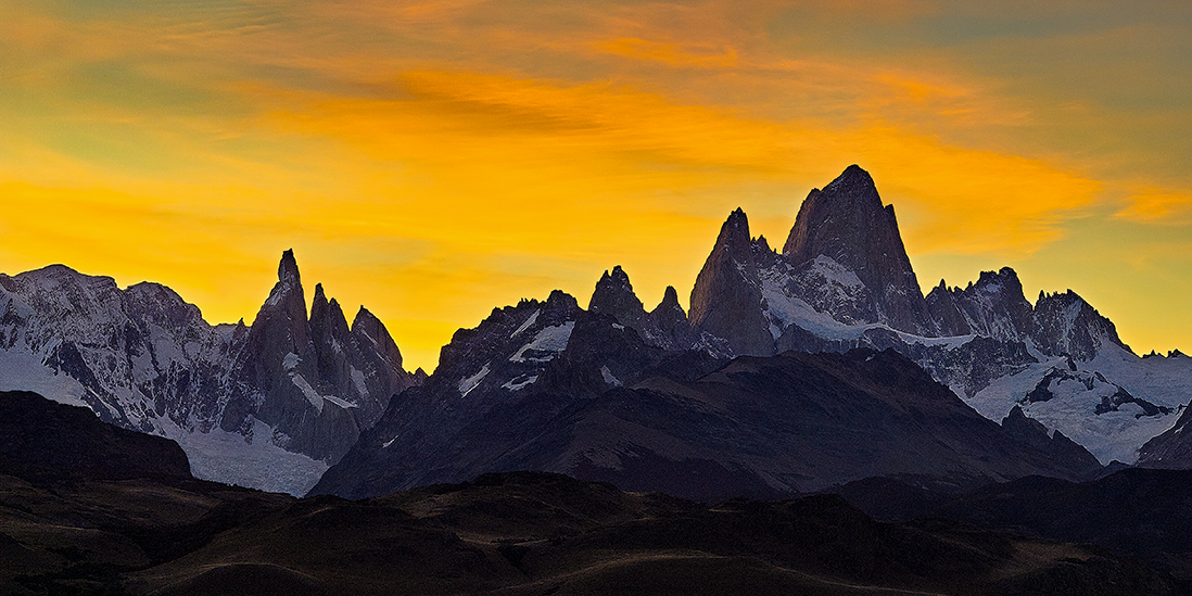 patagonia argentina sunset autumn