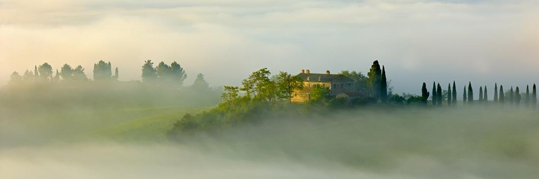 italy tuscany sunrise villa